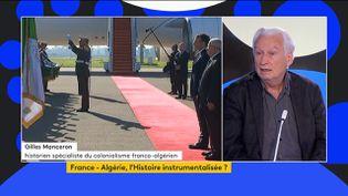 Gilles Manceron, historien spécialiste du colonialisme franco-algérien analyse la crise diplomatique qui agite les deux pays. (FRANCEINFO)
