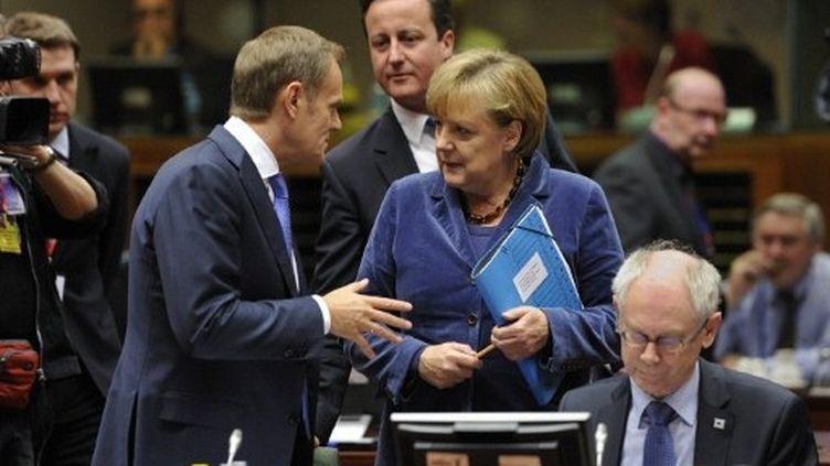 Le plan de sauvetage de la zone euro a été conclu dans la nuit, à Bruxelles (AFP - Eric Feferberg)