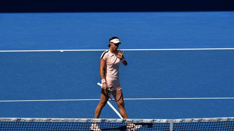 Caroline Garcia n'a pas existé face à Madison Keys (PAUL CROCK / AFP)