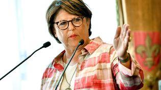 Martine Aubry, maire de Lille, le 3 août 2018 à Lille (Nord). (PHILIPPE HUGUEN / AFP)