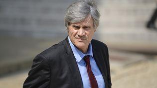 Le porte-parole du gouvernement, Stéphane Le Foll, quitte l'Elysée après un Conseil des ministres, à Paris, le 23 juillet 2014. (MIGUEL MEDINA / AFP)