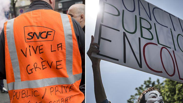 Les cheminots et les fonctionnaires sont appelés à la grève le 22 mars. (MAXPPP)