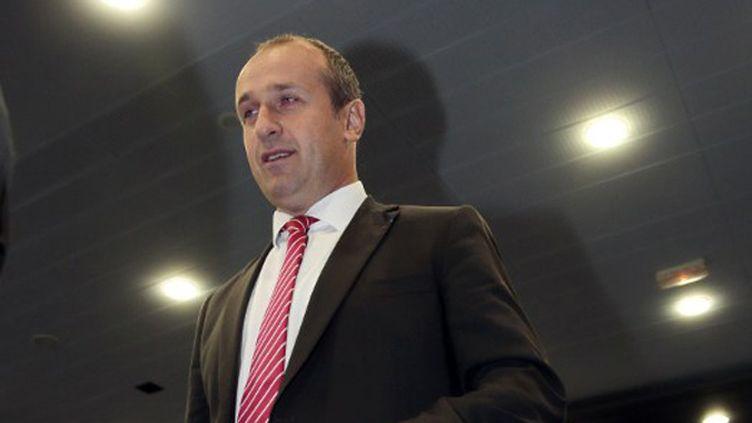 Le manageur du XV de France, Philippe Saint-André