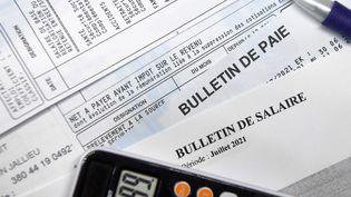 Bulletin de salaire (illustration) (MOURAD ALLILI / MAXPPP)