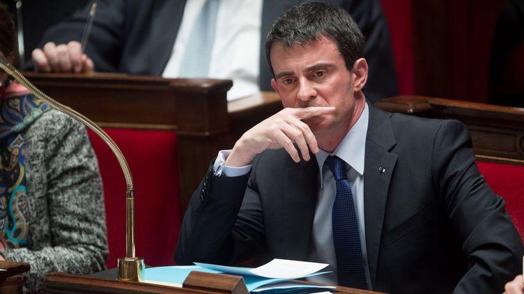 Le Premier ministre, Manuel Valls, le 27 janvier 2015 à l'Assemblée nationale. (CHAMUSSY /SIPA)