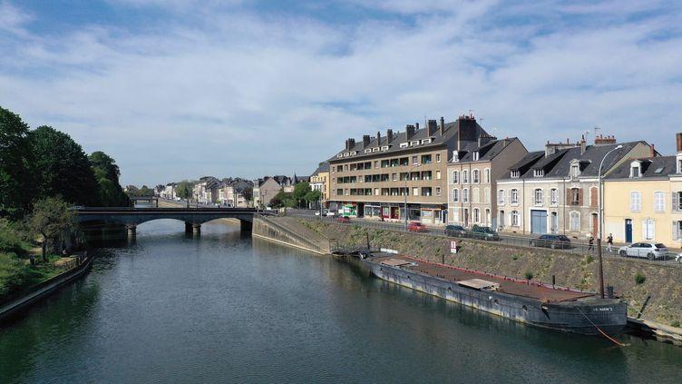 La ville du Mans (Sarthe) lors du confinement lié au Covid-19, le 25 avril 2020. (MAXPPP)