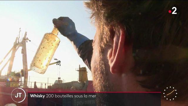 Alcool: 200 bouteilles de whisky plongées en mer
