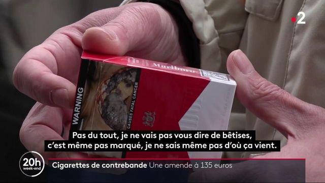 Cigarettes de contrebande : les acheteurs risquent une amende de 135 euros