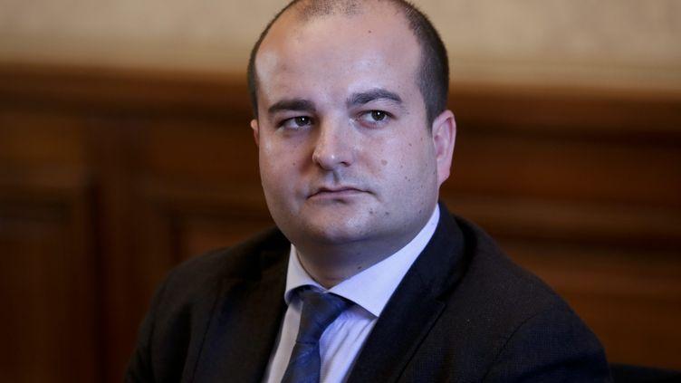 David Rachline, 28 ans, sénateur-maire de Fréjus (THOMAS PADILLA / MAXPPP)