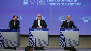 Le vice-président de la Commission européenne, Frans Timmermans, le 4 mai 2016 à Bruxelles (Belgique). (DURSUN AYDEMIR / ANADOLU AGENCY / AFP)