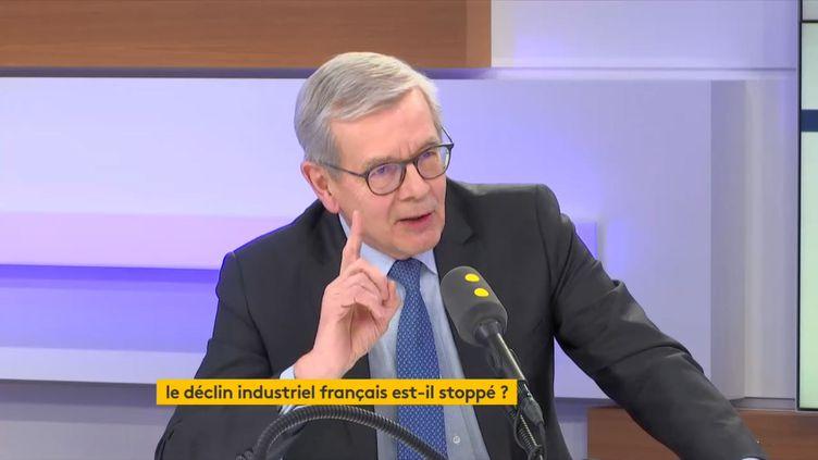 Philippe Varin, le président de France Industrie, était l'invité de franceinfo mardi 18 février 2020. (FRANCEINFO / RADIO FRANCE)
