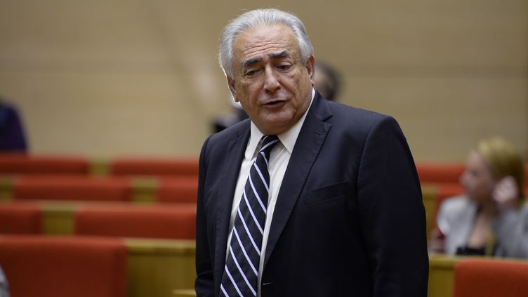 Dominique Strauss Kahn, le 26 juin 2013 lors de son audition au Sénat. (MARTIN BUREAU / AFP)