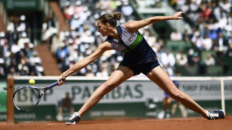 La Tchèque Karolina Pliskova, tête de série N.2 à Roland-Garros (CHRISTOPHE SIMON / AFP)