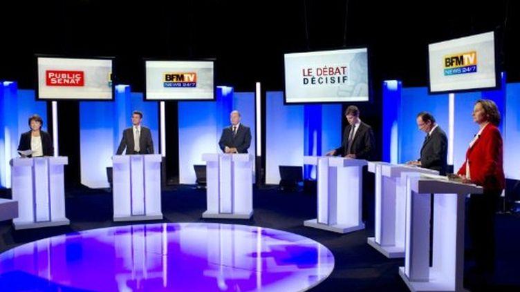 Le dernier débat avant le premier tour de la primaire (AFP/FRED DUFOUR)