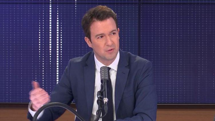 """Guillaume Peltier, vice-président délégué des Républicains,était l'invité du """"8h30franceinfo"""", mardi 1er décembre 2020. (FRANCEINFO / RADIOFRANCE)"""