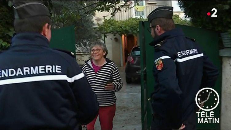 Des patrouilles de gendarmes ont lieu à Trèbes (Aude) après les inondations. (FRANCE 2)
