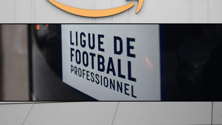"""Amazon devient le principal diffuseur du football français. Canal + qui désapprouve le choix de la La ligue de football professionnelde football a annoncé """"se retirere de la Ligue 1. (MARTIN BUREAU / AFP)"""