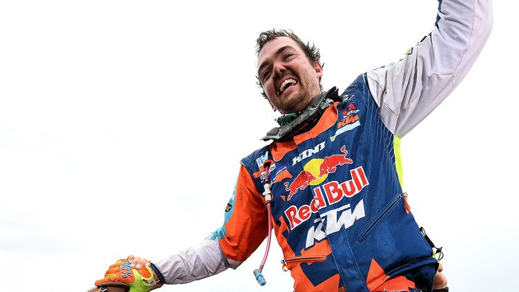 La joie de Matthias Walkner (KTM) (FRANCK FIFE / AFP)