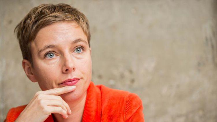 """(Clémentine Autain, conseillère régionale Front de Gauche d'Île-de-France, et porte-parole du mouvement """"Ensemble !"""" © maxPPP)"""