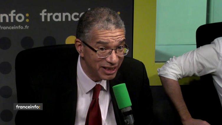 Lionel Zinsou, ex Premier ministre du Bénin, était l'invité de L'interview J-1, mardi 28 novembre sur franceinfo. (FRANCEINFO / RADIOFRANCE)