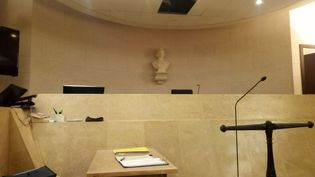 La salle d'audience du tribunal correctionnel d'Orléans (Loiret). (ANNE OGER / FRANCE-BLEU ORLÉANS)