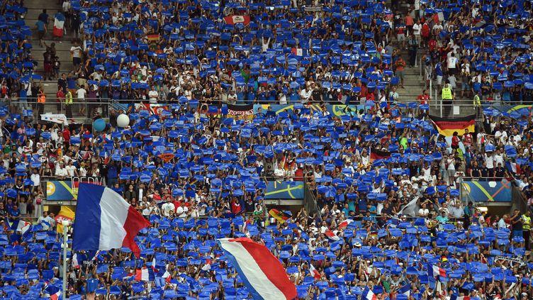 Le public du stade Vélodrome a poussé les Bleus jusqu'en finale (ANNE-CHRISTINE POUJOULAT / AFP)