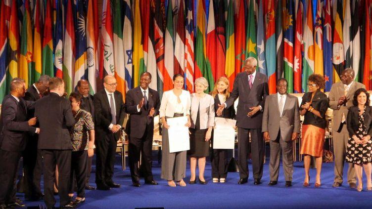 Remise du prix Houphouët-Boigny pour la recherche de la paix, le 27 juin 2017, au siège de l'UNESCO, à Paris (Noé Michalon)