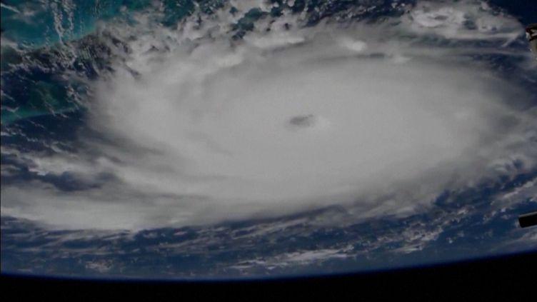 L'ouragan Dorian vu du ciel. (AFP)