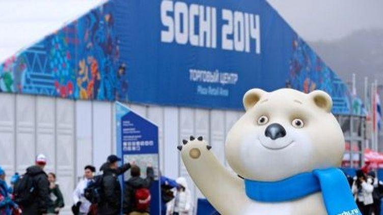 Sotchi (Russie) L'ours mascotte des jeux olympiques d'hiver de 2014 (AFP PHOTO/POOL/Pascal Le Segretain)