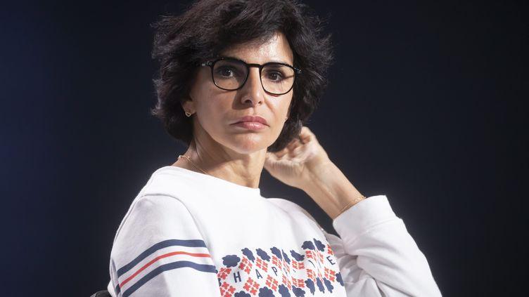 Rachida Dati, le 5 septembre 2021, lors de la rentrée des jeunes Républicains. (VINCENT ISORE / MAXPPP)