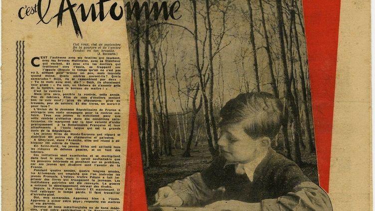 Le journal Vaillant du 21 septembre 1945. (EDITIONS VAILLANT)
