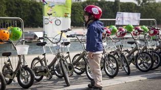 La Mairie de Paris lance le 18 juin 2014 le service de location de vélos pour enfants entre deux et huit ans, leP'titVelib (  MAXPPP)