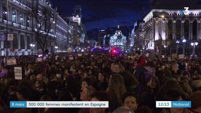 Espagne : 500 000 manifestants pour les droits des femmes