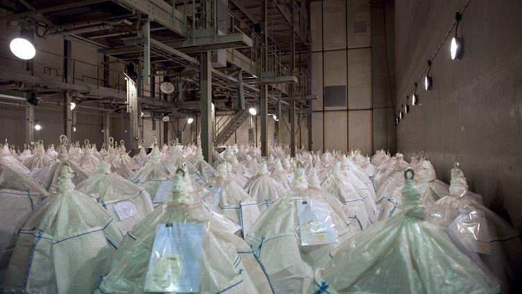 Des sacs faiblement radioactifs dans les locaux de traitement des déchets nucléaires de Pierrelatte (Drôme). (CELINE JANDAURECK / CEA)