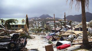 Le passage dévastateur de l'ouragan Irma sur l'ile de Saint-Martin n'a pas épargné les structures hospitalières (illustration) (LIONEL CHAMOISEAU / AFP)