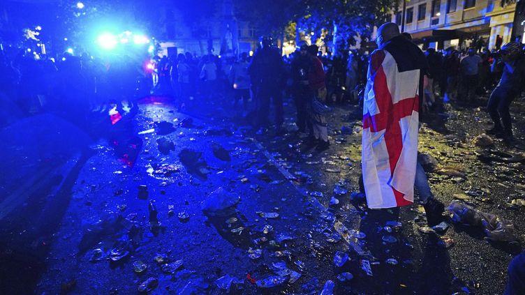 Les forces de l'ordre ont arrêté 49 personnes en marge de la finale de l'Euro, entre l'Italie et l'Angleterre. (VICTORIA JONES/AP/SIPA / SIPA)