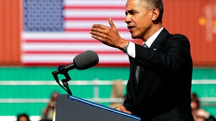 Le président américain, Barack Obama, le 8 novembre 2013 à La Nouvelle-Orléans (Louisiane). (SEAN GARDNER / GETTY IMAGES NORTH AMERICA / AFP)