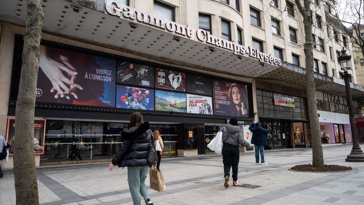 Le cinéma Gaumont Champs-Élysées (25 février 2021). (RICCARDO MILANI / HANS LUCAS)
