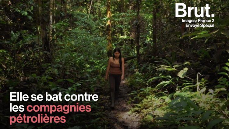 VIDEO. Elle se bat contre les compagnies pétrolières et contre son pays pour sauver l'Amazonie (BRUT)