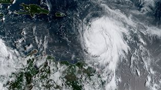 L'ouragan Maria vu par satellite au-dessus des Antilles, le 18 septembre 2017. (NOAA / RAMMB / AFP)