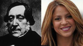 Gioachino Rossini, compositeur (à gauche) et Shakira, chanteuse (à droite). (GETTY IMAGES / AFP)