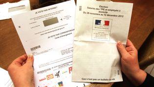 Un formulaire de vote aux élections professionnelles de 2012 pour les TPE et les employés à domicile (photo d'illustration) (FRED HASLIN / MAXPPP)