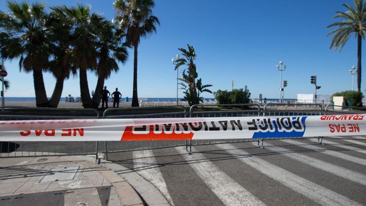 La promenade des Anglais, à Nice, au lendemain de l'attentat, le 15 juillet 2016. (XU JINQUAN / NURPHOTO / AFP)