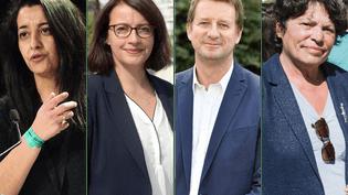 Karima Delli, Cécile Duflot, Yannick Jandot et Michèle Rivasi, les quatre candidats à la primaire d'Europe Ecologie-Les Verts. (MAXPPP)