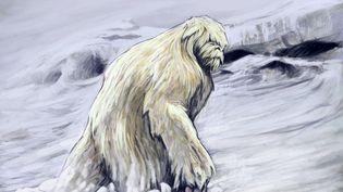 Une représentation d'un yéti,creature anthropomorphe du folklore de la region himalayenne. (LEEMAGE / AFP)