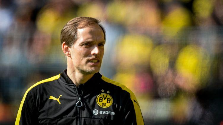 L'entraîneur du Borussia Dortmund, Thomas Tuchel (SASCHA SCHUERMANN / AFP)