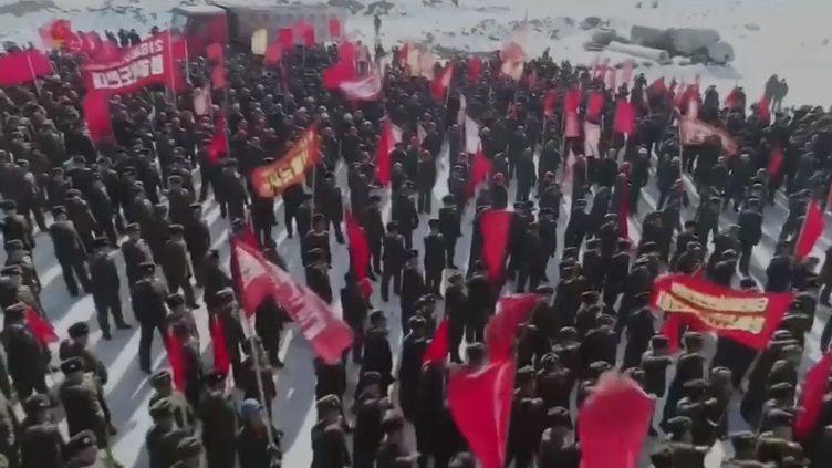 Ce gigantesque domaine, situé en Corée du Nord, doit ouvrir en 2020. (Capture d'Ecran Franceinfo)