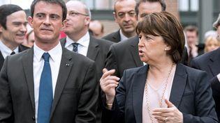 Manuel Valls et Martine Aubry, à Lille, le 18 mars 2015. (REUTERS)