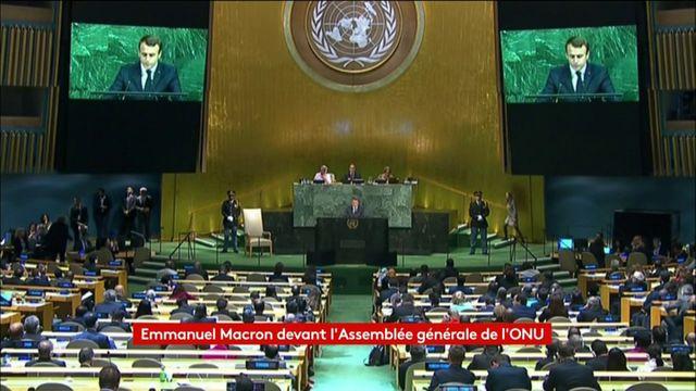 Macron à la tribune de l'ONU : l'intégralité du discours