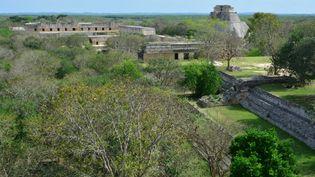 Une ancienne cité maya, dans le Yutacan, au Mexique, le 3 avril 2016. (ANTOINE LORGNIER / ONLY WORLD / AFP)